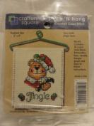 Stitch 'N Hang Counted Cross Stitch Kit - Finished Size 7.6cm X 10cm - Item 4445 - Jingle Bear