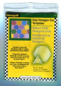 Omnigrid Hexagon Star Template, size 8.9cm