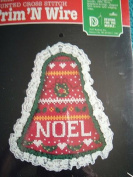 NOEL 15cm BELL COUNTED CROSS STITCH KIT FROM TRIM 'N WIRE