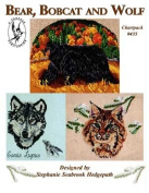 Pegasus Originals Bear, Bobcat and Wolf Counted Cross Stitch Chartpack