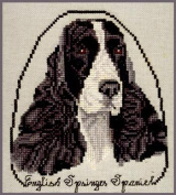 Pegasus Originals English Springer Black/White Counted Cross Stitch Chart Pack