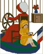 Evangeline at The Spinning Wheel Counted Cross Stitch Pattern