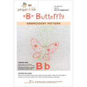 B is for BUTTERFLY-Embroidery Pattern