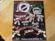 Ribbons and Bows Cross Stitch Pattern Book #169