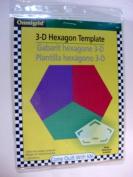 Omnigrid 3-D Hexagon Template