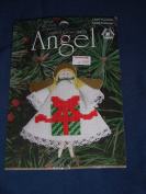 "1997 Designs for the Needle ""Present"" Counted Cross-Stitch Angel Pattern Kit 1489"