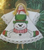 Open Arms Snowman Angel Ornament - Cross Stitch Kit #351407