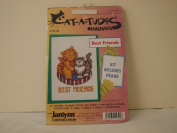 "CAT-A-TUDES COUNTED CROSS STITCH ""BEST FRIENDS"""