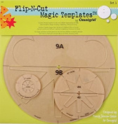 Omnigrid 1-2-4-23cm Flip-N-Cut Magic Templates, Set 1