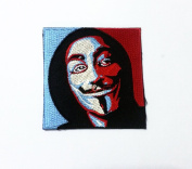 Vendetta Anonymous Guy Fawkes Mask Patch Iron on Sew Applique Embroidered patches