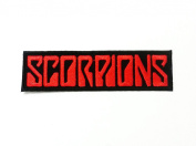 Scorpions Music Band Logo Shirt Jacket Patch Sew Iron on Embroidered Badge Symblo White