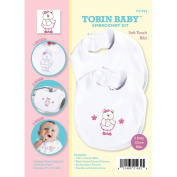 Tobin Needle Crafts Tobin Baby Bear Soft Touch Bibs Embroidery Kit Set Of 2
