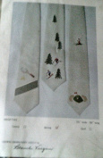 "Crewel Embroidery Kit ""Skiing"" Necktie Men's Tie Design by Blanche Virgien"