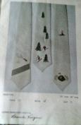 """Crewel Embroidery Kit """"Skiing"""" Necktie Men's Tie Design by Blanche Virgien"""