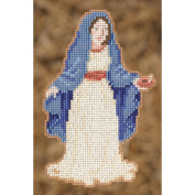 Mary Ornament Counted Cross Stitch Kit-7.6cm - 1.3cm x 13cm