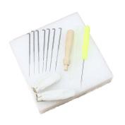 Estone 1set Needle Felting Starter Kit Wool Felt Tools Mat + Needle + Accessories Craft