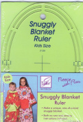 Fleece With Flair Snuggly Blanket ruler Kids Size JT-238
