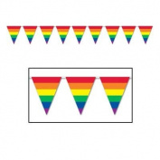 Rainbow Pennant Banner, 12 Ft