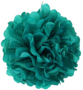 Tissue Pom Pom Paper Flower Ball 25cm Peacock -Just Artefacts Brand