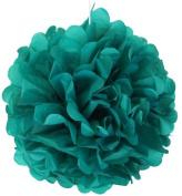 Tissue Pom Pom Paper Flower Ball 25cm Peacock -Just Artefacts Brand
