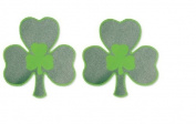 Irish Shamrock Plastic Glitter Cutout Decorations