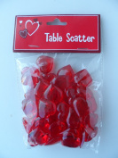 Translucent Red Acrylic Hearts for Vase Fillers, Table Scatter, or Decoration