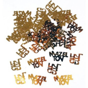 Gold Mazel Tov in Hebrew & English Confetti, Jewish Decorations for Wedding, Engagement, Bar Mitzvah, Bat Mitzvah Parties
