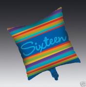 Birthday Stripes Age 16 Mylar Balloon - 16th Party Supplies