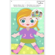 Paper Doll Set with Stickers - 3 Paper Dolls