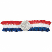 Pkgd Patriotic Arm Band (red, white, blue) Party Accessory (1 count)