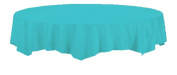 Creative Converting Touch of Colour Octy-Round Paper Table Cover, 210cm , Bermuda Blue