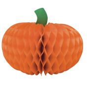 Creative Converting Tall Honeycomb Pumpkin Centrepiece, 15cm