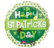 Happy St. Patrick's Day 43cm Mylar Balloon