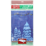 Hannah K. Christmas 1-Pack Santa Plastic Tablecover, 140cm by 240cm