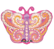 46cm Pink Paisley Butterfly Mylar Balloon