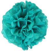 Tissue Pom Pom Paper Flower Ball 41cm Teal -Just Artefacts Brand