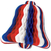 Patriotic Tissue Bell (red, white, blue) Party Accessory