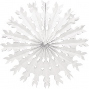 Creative Converting 30501Snowflake Tissue Paper Fan Hanging Decoration, 30cm