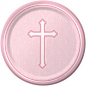Faith Pink 18cm Paper Plates 8 Per Pack