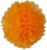 Tissue Pom Pom Paper Flower Ball 50cm Orangesicle -Just Artefacts Brand