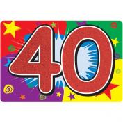 "Glittered ""40"" Sign"