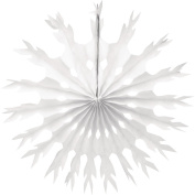 Creative Converting 30502Snowflake Tissue Paper Fan Hanging Decoration, 60cm