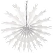 Creative Converting 30502Snowflake Tissue Paper Fan Hanging Decoration, 60cm