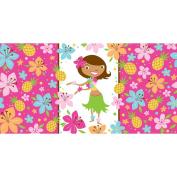Pink Luau Fun Plastic Tablecover