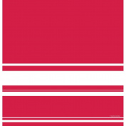 Creative Converting Coordinates Collection Plastic Banquet Table Cover, Classic Red Stripe
