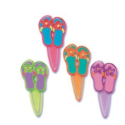 12 ct - Summer Flip Flop Bookmark Cupcake Picks
