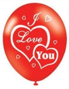Red I Love You Balloons