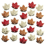Foil Fall Leaf / Autumn Leaves Confetti ~ 60ml ~ Approx. 1.9cm ~ New ~ Thanksgiving Table Sprinkles