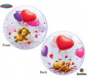 Teddy Bear Love 60cm Bubble Balloon