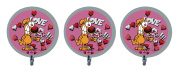 "3 Mother Goose and Grimm ""Love Ya"" Grimmy Foil Balloons"